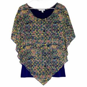 NOTATIONS Blouse colorful handkerchief